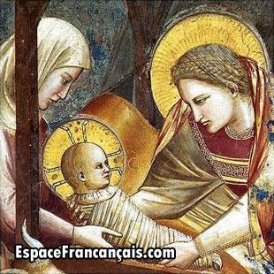 Nativité de Giotto di Bondone (Ambrogiotto di Bondone), peintre, sculpteur et architecte italien.