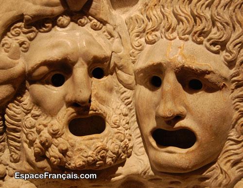 Anciens masques de théâtre grec