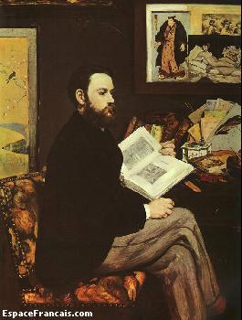 Portrait d'Émile Zola par Édouard Manet, 1868.