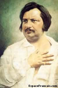 Portrait d'Honoré de Balzac.