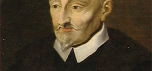 Portrait posthume de Ronsard par l'École de Blois (vers 1620), représenté de façon anachronique avec une barbichette en pointe.