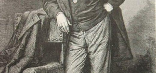 Portrait de Théophile Gautier, d'après la photographie de M. Bertall, 1869.