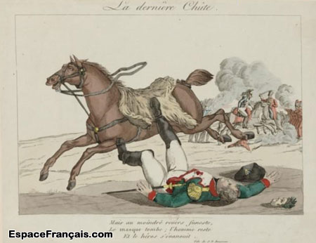 Caricature contre Napoléon Ier : La dernière chute