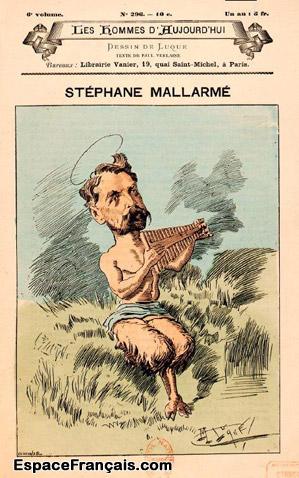 Manuel Luque (1854-1919), Caricature représentant Stéphane Mallarmé sous les traits du dieu Pan.