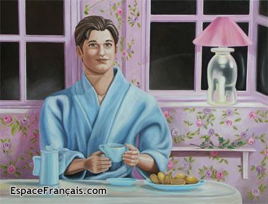 Du côté de chez Swann, un tableau fait par Caroline Maurel qui rend hommage à son auteur préféré (2007).