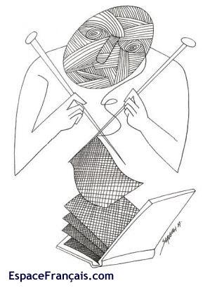 SERGUEI, L'Écriture de soi (dessin de presse paru dans Le Monde).