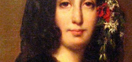 Détail du portrait de George Sand par Auguste Charpentier (1833) coll. Musée de la Vie romantique, à Paris.