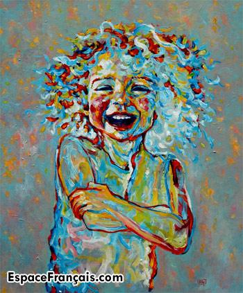 Le Bonheur (Happiness), un tableau de Joep Buijs, acrylique sur canevas, 2010.