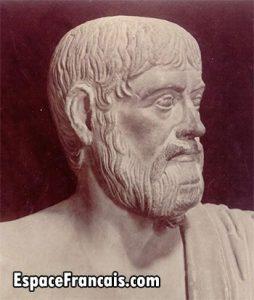 Buste de Pindare aux Musées du Capitole. Copie romaine d'un original grec du Ve s. av. J.-C.