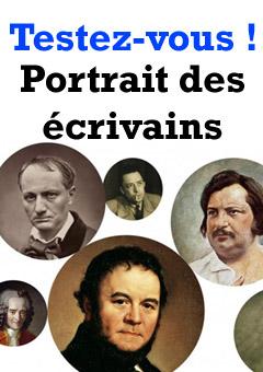 Exercice / QCM : Portrait des écrivains français