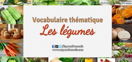 Les légumes - Vocabulaire français thématique