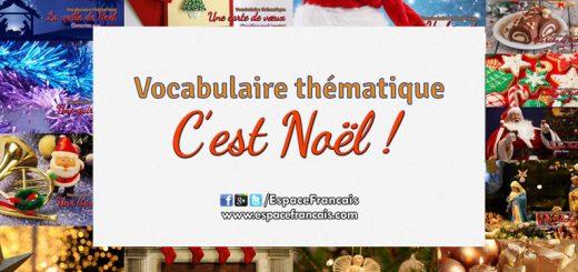 Vocabulaire français thématique - C'est Noël !