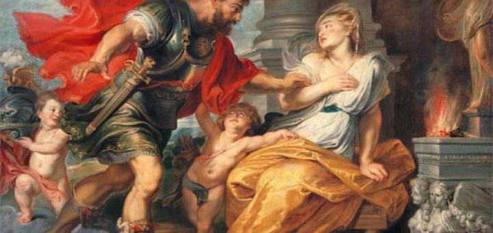 Pierre Paul Rubens, Mars et Rhéa Silvia, 1617. Huile sur toile, 208 × 272 cm. Musée Liechtenstein, Vienne, Autriche.